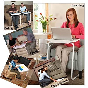 NEW TABLE MATE 2 AS SEEN ON TV PORTABLE ADJUSTABLE TV DINNER TRAY TABLEMATE II