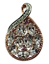 Carillon India Morganite & Pink Tourmaline Sterling Silver Chain Pendent