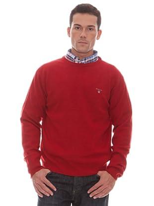 Gant Jersey Liso Redondo (Rojo)