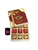 9pc Luxury Decorated Chocolate Box With Birthday Mug - Chocholik Luxury Chocolates