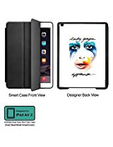 Universal Music Officially Licensed Lady Gaga -Style 1 Tablet Designer BLACK SMART CASE for APPLE IPAD AIR2,