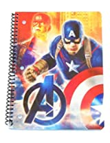 """Marvel the Avengers Age of Ultron Wide Ruled Spiral Notebook ~ Captain America Ready for Battle (8"""""""