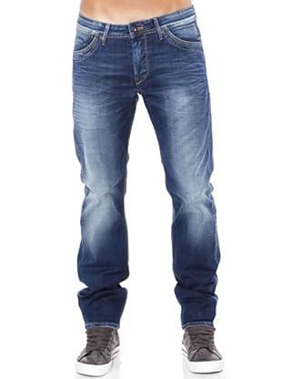 Pepe Jeans London Vaquero Slim Rivet (Azul Desgastado)