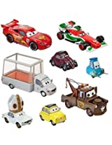 Disney / Pixar CARS 2 Movie Exclusive 148 Die Cast Car 8Pack Holy Moly Includes Pope Popemobile!