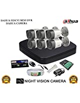DAHUA HDCVI 8CH DH-HCVR4108C-S2 DVR + DAHUA HDCVI DH-HAC-HFW1000RP BULLET CAMERA 6Pcs + 1 TB WD HDD + 3+1 COPPER CABLE + POWER SUPPLY (FULL COMBO)