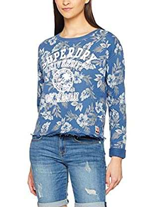 Superdry Sweatshirt Hawaii Island Indigo-Crew