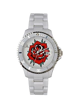 ToyWatch TF08WH - Reloj Unisex movimiento de Cuarzo con correa de plástico blanco