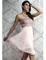 Sequined High Low Prom Dress