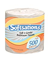 Nicole Home Collection Softsations 2-Ply Toilet Tissue, 500 Sheets