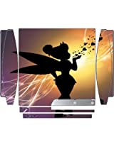 Cute Fairy Blowing Kiss Hearts Flashy Background Design Print Image Playstation 3 & Ps3 Slim Vinyl Decal Sticker Skin By Trendy Accessories