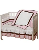 Baby Doll Bedding Classic Port-a-Crib Bedding Set, Pink