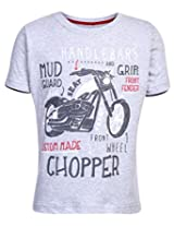 Ollypop T-Shirt Half Sleeves Chopper Print - Grey