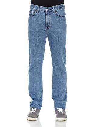 Carrera Jeans Pantalón Denim 15 Oz Con Zip (Azul Lavado)