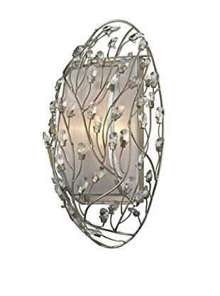 Artistic Lighting Winter Forest 1-Light Sconce, Aged Silver