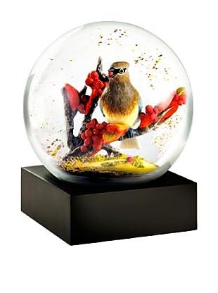 CoolSnowGlobes Cedar Waxwing Snow Globe