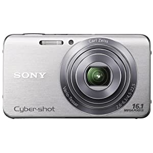 Sony Cyber-shot DSC-W630 16.1MP Point-and-Shoot Digital Camera (Silver) with Camera Case