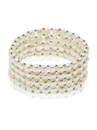 Valero Pearls 60201668 - Pulsera de mujer de plata de ley con perla de agua dulce, 19 cm