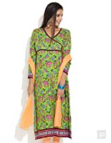 Woven Angrakha Style Kurta