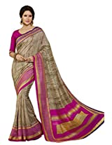 Beige Color Art Bahgalpur Silk Saree with Blouse 12525