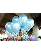 GrandShop 50310 Balloons Metallic HD Finish Light Blue (Pack of 50)