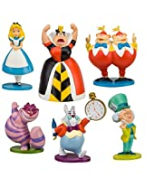Disney Alice In Wonderland Figure Play Set -- 6-Pc.
