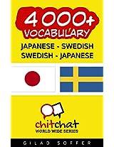 4000+ Japanese - Swedish Swedish - Japanese Vocabulary (ChitChat WorldWide) (Swedish Edition)