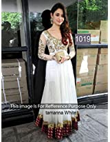 Tamanna Bhatia White Floor Length Georgette Anarkali - - for Salwar Suit