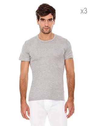 Abanderado Pack x 3 Camisetas Corta Fibra Invierno (Gris)