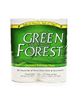 Green Forest Bath Tissue, White, Double Roll, 352 Count (Pack of 12)
