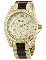 Fossil Riley Analog Silver Dial Women's Watch - ES3343
