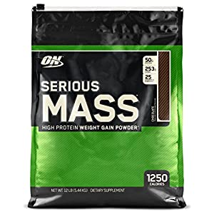 Optimum Nutrition (ON) Serious Mass - 12 lbs ( Chocolate )