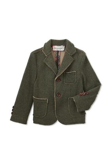 hitch-hiker Boy's Knit Blazer (Green)