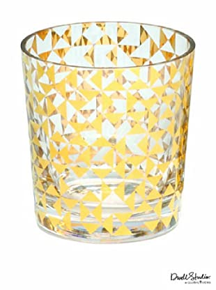 Dwell Studio by Global Views Gold Triangles Drinking Glass, Short