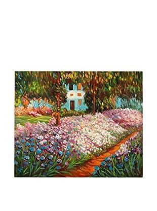 Arte Dal Mondo Ölgemälde auf Leinwand Monet Iris Nel Giardino Di Monet