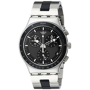 Swatch Irony Analog Black Dial Men's Watch - YCS410GX