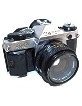 Canon AE-1 Program Nice Clean Vintage 35mm SLR Camera w/ 50mm 1:1.8 Lens