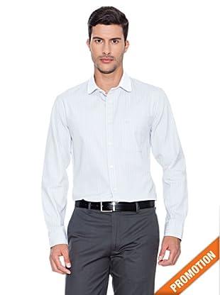 Dockers Camisa Cuello Redondo Rayas (Gris)