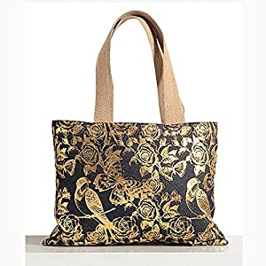 Shopping World Denim Butterflyparrot Design Handbag