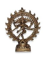 "Prisha India Craft Diwali Gift Shiva Statue Nataraja Idol, Nataraj Dancing Metal Natraj Antique Finish, L - 5.6 x W - 1.6 x H- 6.5"", Net Weight: 522 gram"