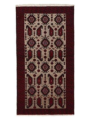 Darya Rugs Authentic Persian Rug, Red, 3' 5
