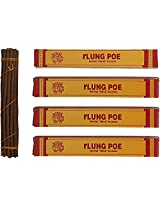 Potala Incense Rlung Poe Herbal Incense Sticks (100 gms, Brown) - Pack of 4