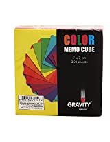 Gravity Multi-Colour Memo Cube- (7x7) 250 Sheets- High Quality A-Grade Papers