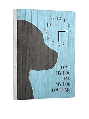 I love my dog Reclaimed Wood Clock