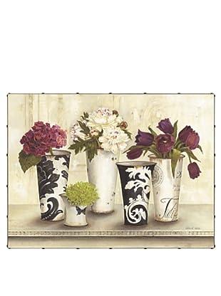 "Kathryn White Flower Symphony Hand-Embellished Canvas, 30"" x 40"""
