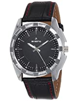 Aveiro Casual Analog Black Men's Watch (AV51WHTBLK)