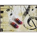 [E17M_004] Colorful Red Magic Earrings