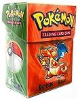 Pokemon Card Supplies Deck Box with Sleeves Charizard Orange