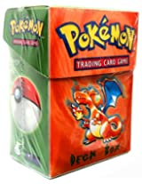 Pokemon Card Supplies Deck Box with Sleeves Charizard Orange