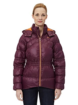 Puma Damen Jacke Hail Hooded Down (italian plum-jaffa orange)