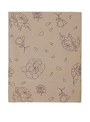 Twinkle Living Rose Flat Sheet (Walnut/Grape)